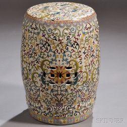 Polychrome Porcelain Garden Seat