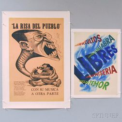 Four Mexican and Spanish WWII Lithograph Posters