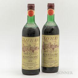 Olivieri Brunello di Montalcino 1974, 2 bottles