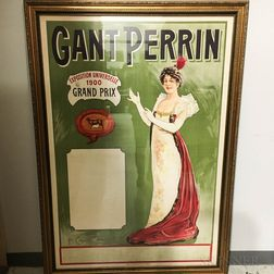 Large Framed French Gant Perrin Exposition Universelle   Poster