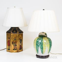 Three Asian Vases Mounted as Lamps