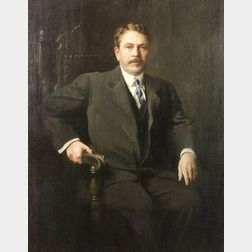 Edmund Charles Tarbell (American, 1862-1938)  Portrait of George E. Belcher