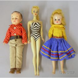 Group of Vintage Plastic Dolls