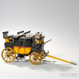 Paint-decorated Stagecoach Model