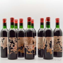 Chateau Lynch Bages 1966, 10 bottles