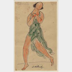 Abraham Walkowitz (American, 1878-1965)      Isadora Duncan