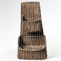 Woven Splint Double Hanging Basket