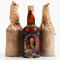 Bonnie Charlie Blended Scotch Whisky, 3 4/5 quart bottles