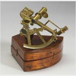 Miniature Brass Sextant by Ramsden