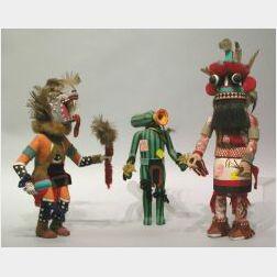 Three Late Kachina Dolls.