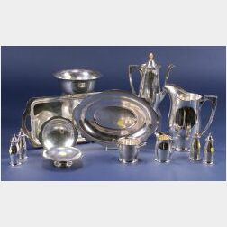 "Thirteen Wallace Sterling ""Antique"" Pattern Tablewares"