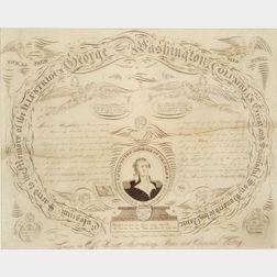 Washington Memorial Calligraphic Exercise