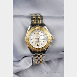 Lady's Stainless Steel and 18kt Gold Wristwatch, Breitling