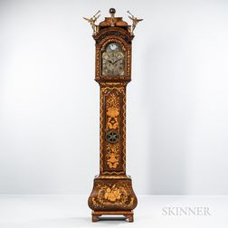 Marquetry Bombe Longcase Clock