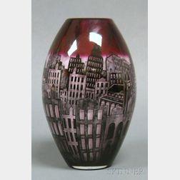Peter Houk Art Glass Vessel