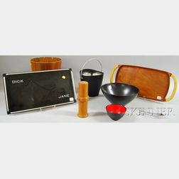 Group of Mid-century Modern Accessories and Tableware