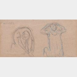 Camille Pissarro (French, 1830-1903)      Deux Femmes