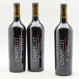 Chappellet Pritchard Hill 2012, 3 bottles