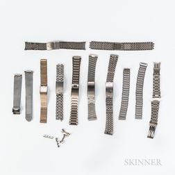 Ten Vintage Wristwatch Bracelets