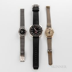Three Vintage and Contemporary Wristwatches