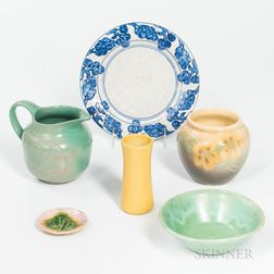 Six Pieces of Arts & Crafts Pottery