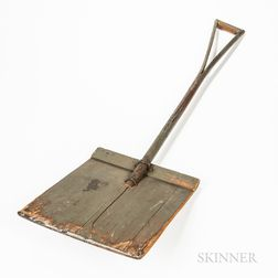 Shaker Green/gray-painted Shovel