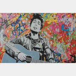 After Mr. Brainwash (French, b. 1966)      Bob Dylan Poster