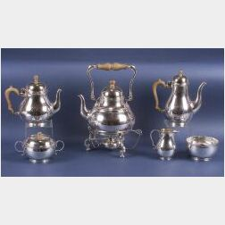 George V Six-Piece Silver Tea and Coffee Service made for Tiffany & Co.
