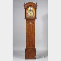Chippendale Mahogany Carved Tall Clock