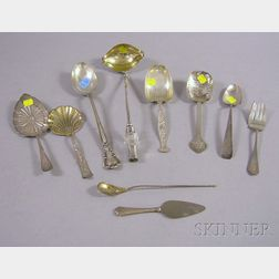 Ten Silver and Silver Plated Serving Pieces