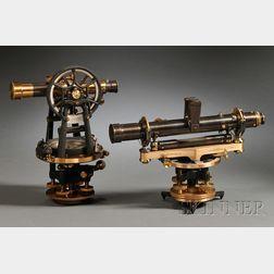 Brass Surveyor's Level and Transit