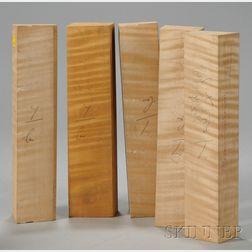 Five Maple Viola Neck Blocks