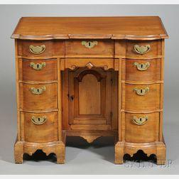 Chippendale Mahogany Block-front Bureau Table