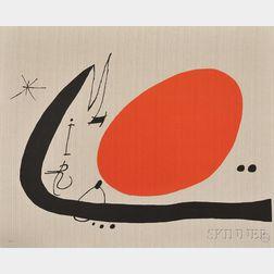 Joan Miró (Spanish, 1893-1983)      Cover for Portfolio Mà de Proverbis