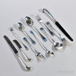 Tiffany & Co. King William   Pattern Sterling Silver Flatware Service