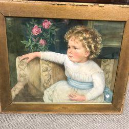 American School, 19th Century       Portrait of Martha Robeson Phillips (Boston, 1882-1960), Age Two