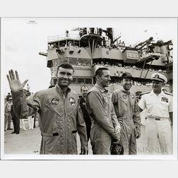 Apollo 13, Three Photographs Taken after Splashdown, April 17, 1970.