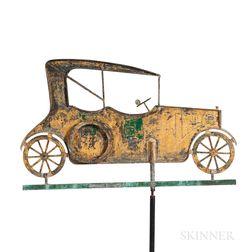 Open Touring Car Sheet Copper Weathervane