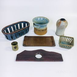 Seven Pieces of Michael Cohen Pottery