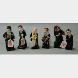 Six Small Royal Doulton Porcelain Dickens Figures