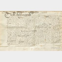 (Early English Indenture, Reign of Queen Elizabeth I)