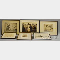 Six Etchings:      Joseph Pennell (American, 1860-1926), Old and New Mills