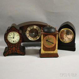 Four Mantel Clocks