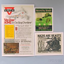 Five Assorted U.S. WWII Lithograph Posters