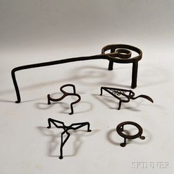 Five Wrought Iron Trivets