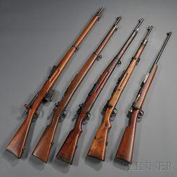 Five Bolt Action Rifles