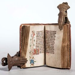 Book of Hours, Use of Rome, Latin Manuscript on Parchment.