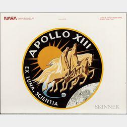 Apollo 13, Images and Ephemera, Three Pieces.