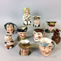 Ten English Face and Toby Jugs