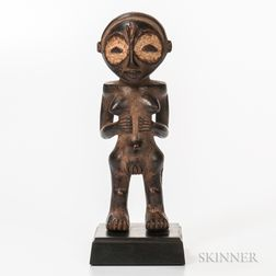 Nigerian-style Carved Wood Standing Female Figure